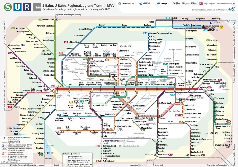 Munich Transportation 2020 Tickets Tariff Zones And Fares
