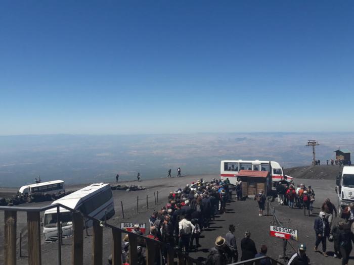 Автобус на вершину Этны