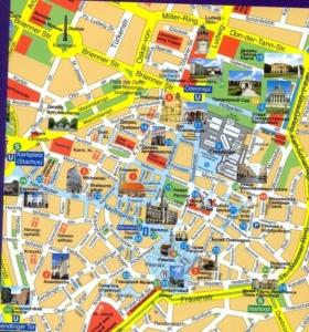 центр мюнхена на карте