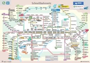 Карта метро Мюнхена