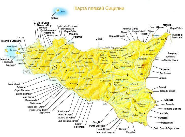 Калабрия на карте италии с городами