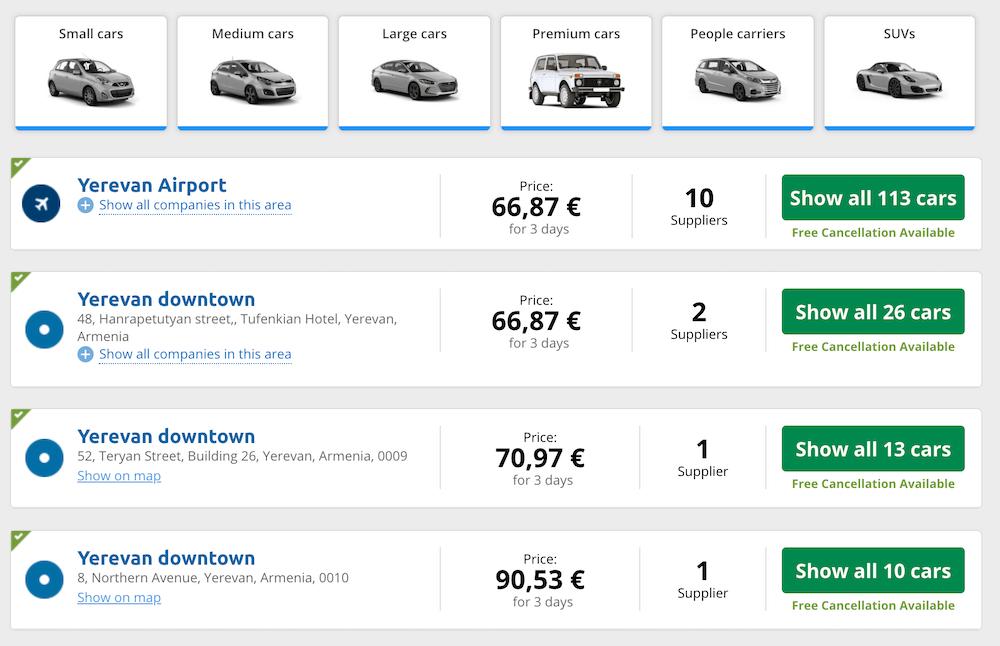 rent a car abroad at a discount