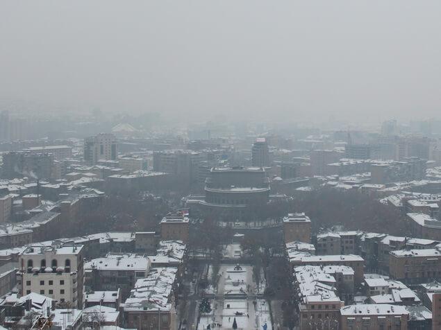 ереван зимой