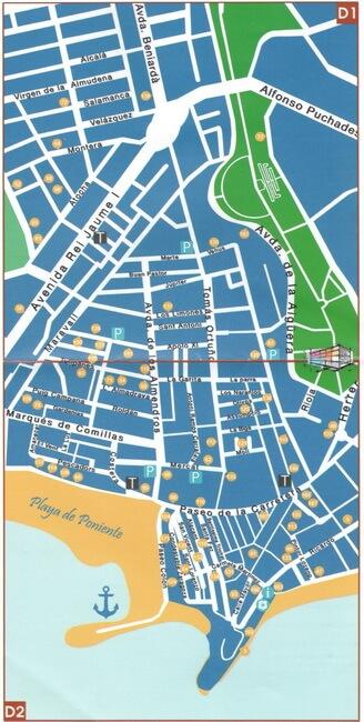 карта старого города бенидорма