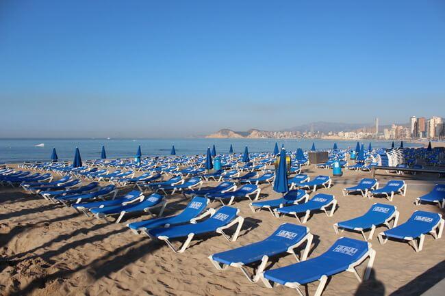 пляж леванте бенидорм
