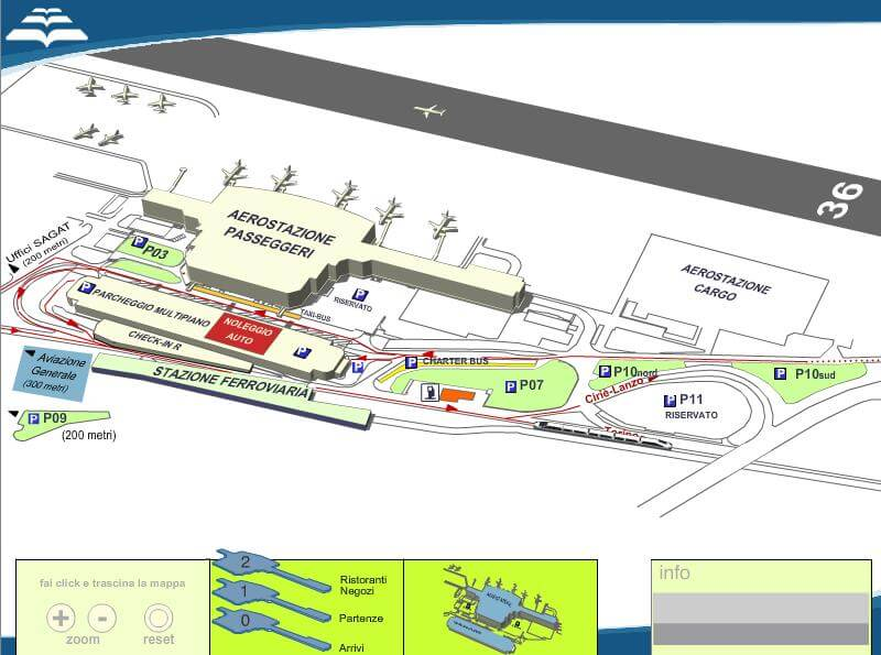 турин схема аэропорта подъезд