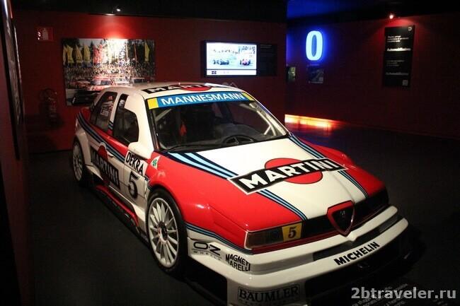 гоночные авто в музее