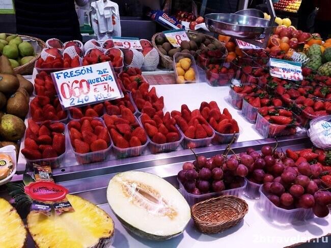 фрукты на mercado central