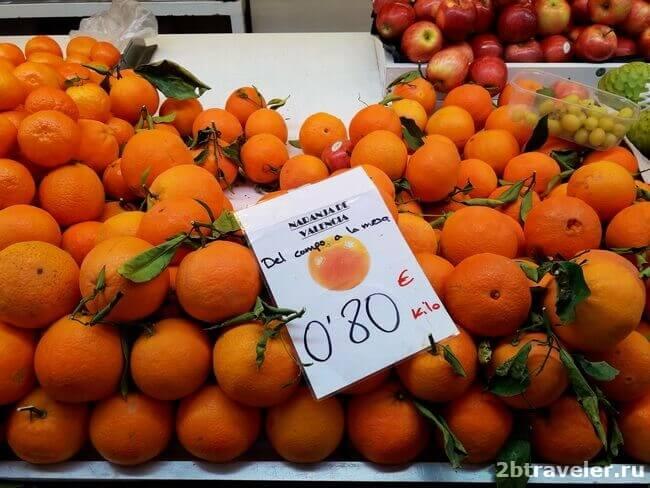 апельсины на mercado central в валенсии