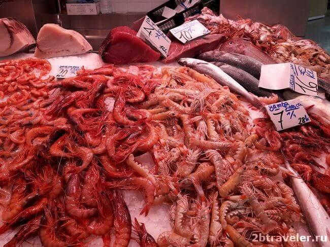 морепродукты на центральном рынке валенсии