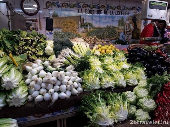 овощи на центральном рынке валенсии