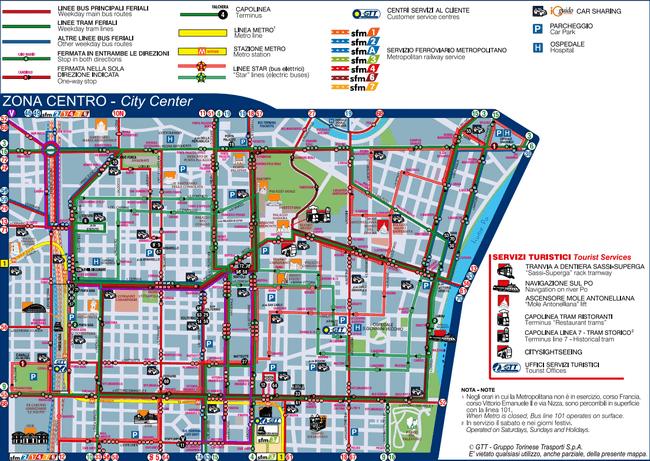 карта общественного транспорта турина