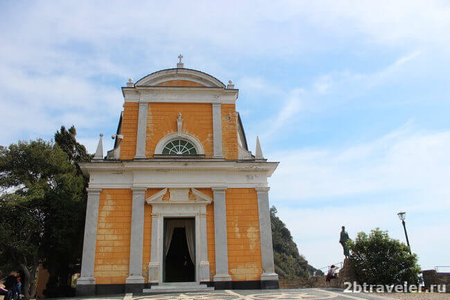 храм святого георгия в портофино