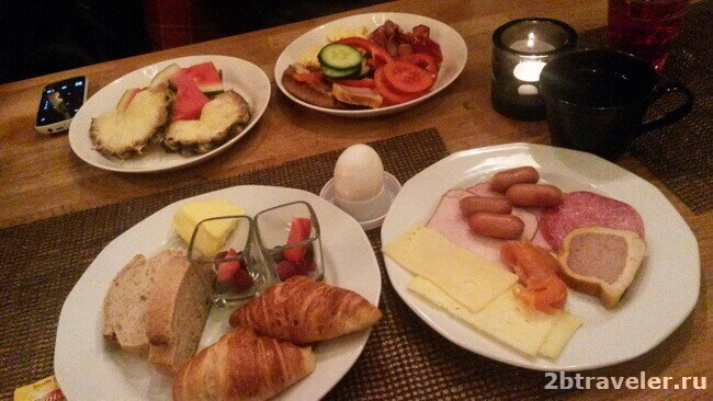 завтрак в сити отель рованиеми