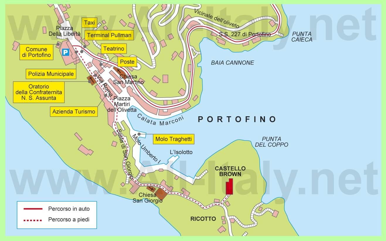 карта портофино