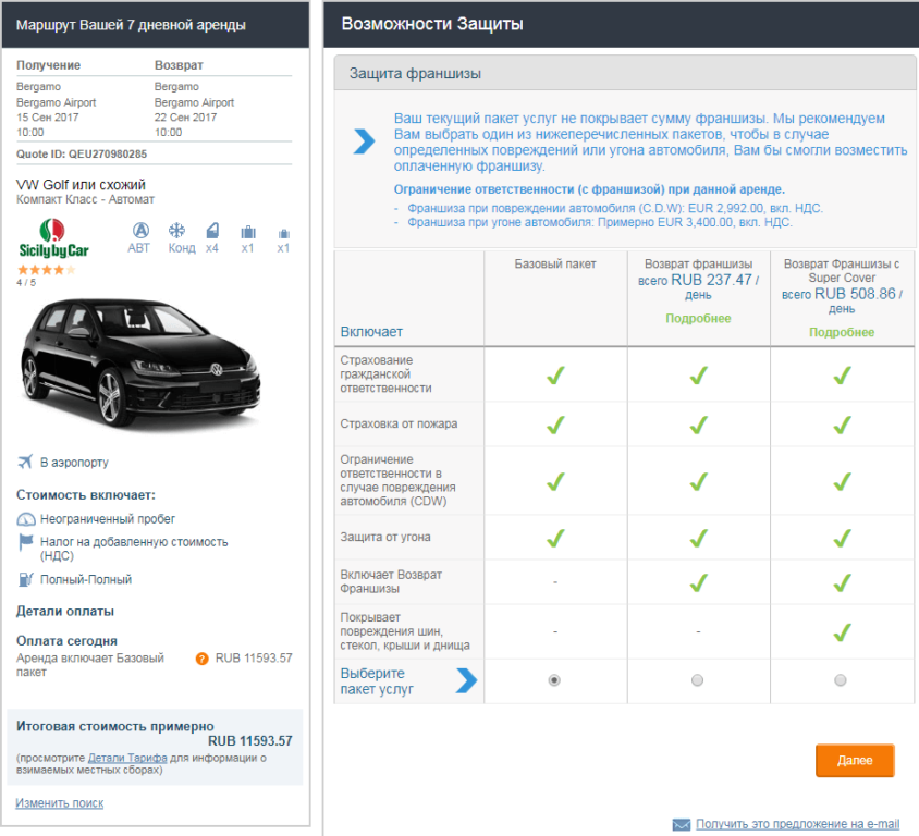 российские права в италии при аренде авто