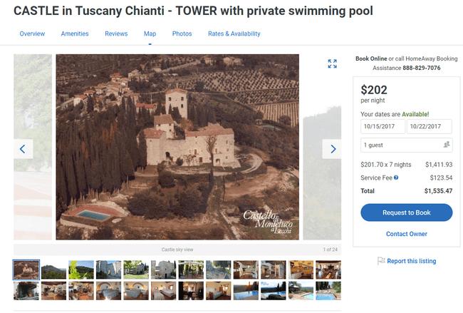 замок в аренду италия