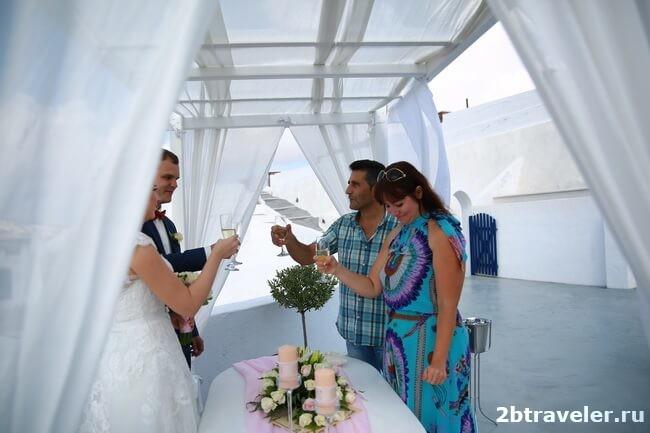 как организовать свадьбу на санторини