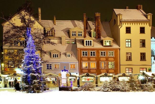 рождественская ярмарка рига