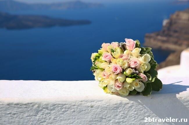 свадьба санторини