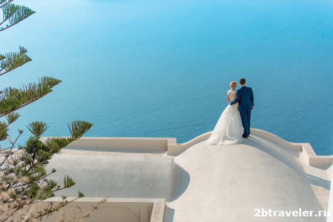 свадьба санторини вилла андромеда