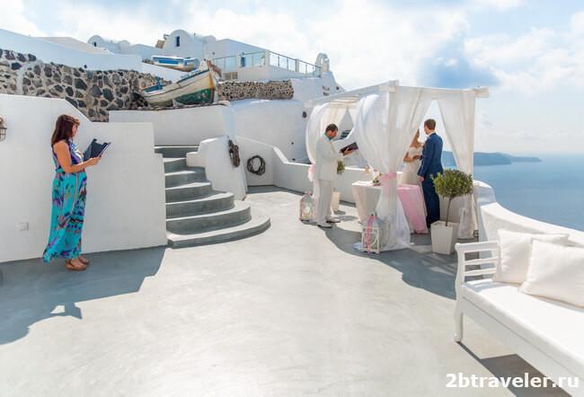 свадьба villa irini santorini