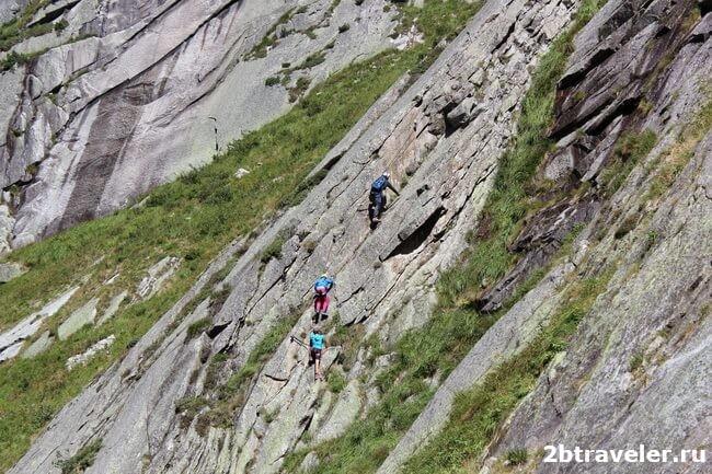 climbers alps switzerland