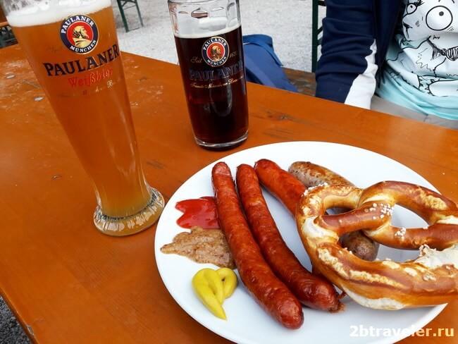 пиво пауланер в зеехаус мюнхен