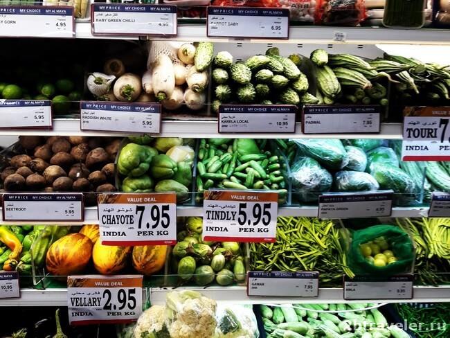 цены на овощи оаэ