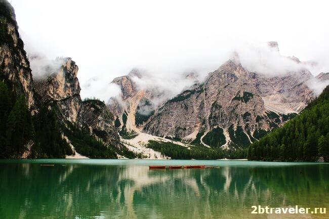 озеро брайес в северной италии