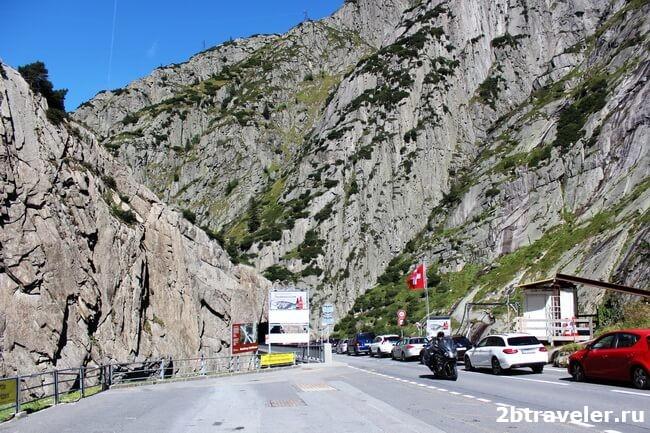 Monument to Suvorov in the Swiss Alps near Devil's Bridge