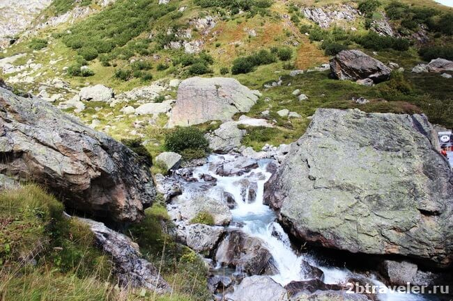 waterfalls in the alps