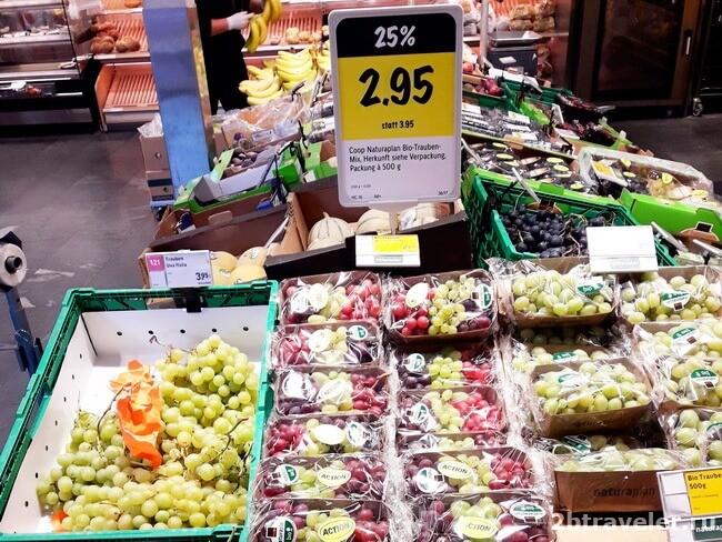 цены на фрукты лихтенштейн