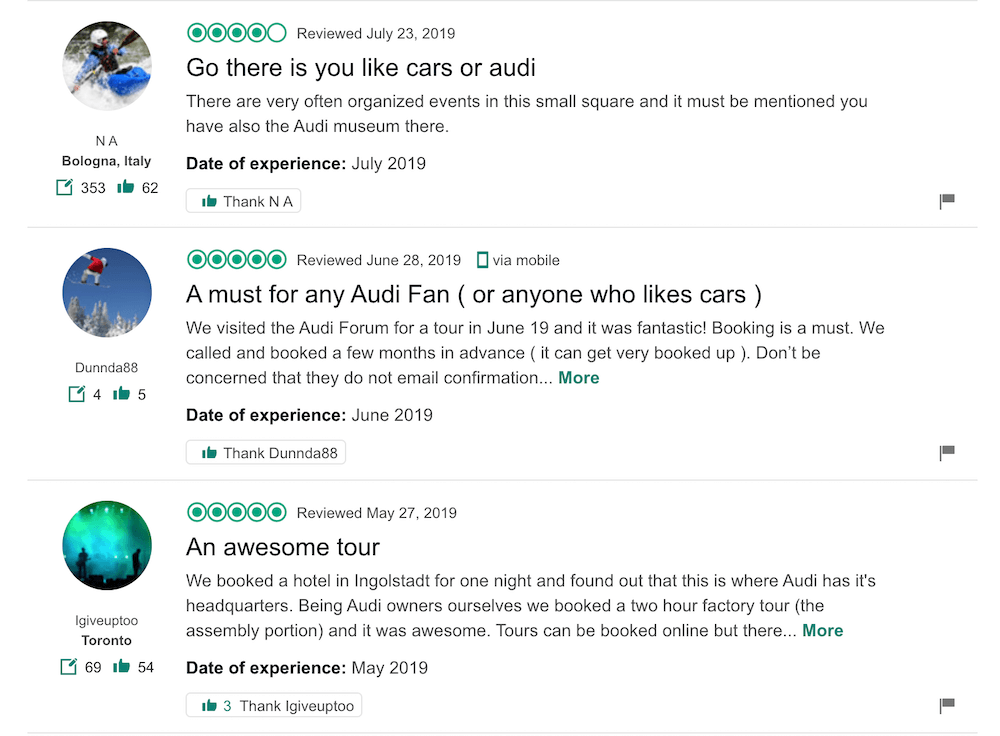 museum audi reviews