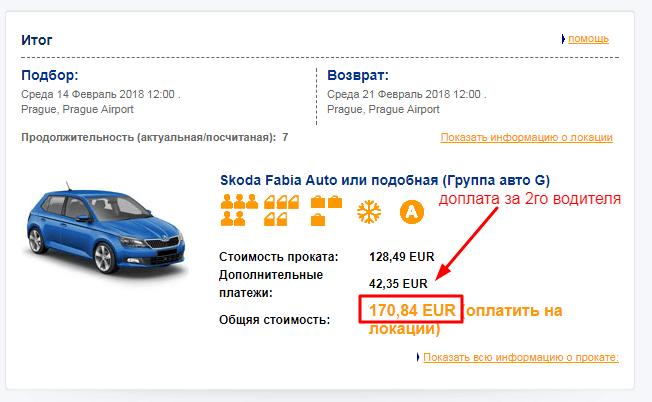 аренда авто в праге отзыв