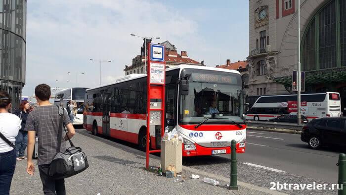 как добраться до вокзала Праги