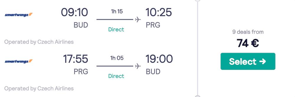 Budapest Prague flights