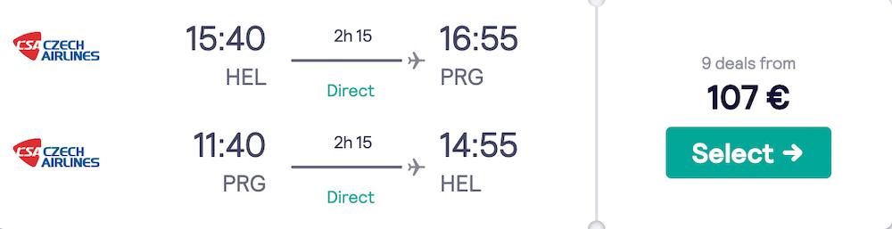 Helsinki Prague flights