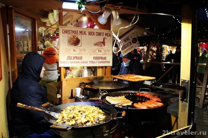 сколько стоит поесть на ярмарке в таллине