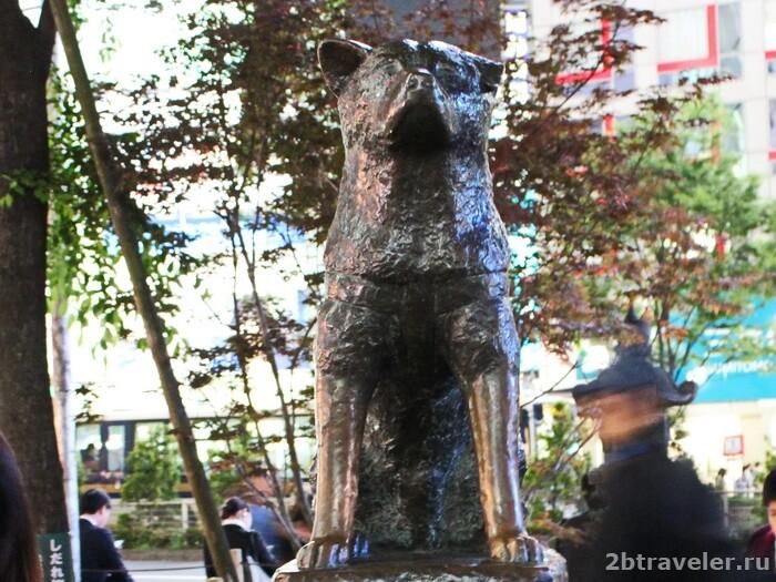 памятник хатико токио