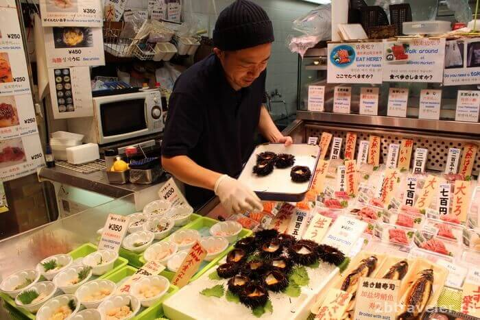 рынок морепродуктов в киото