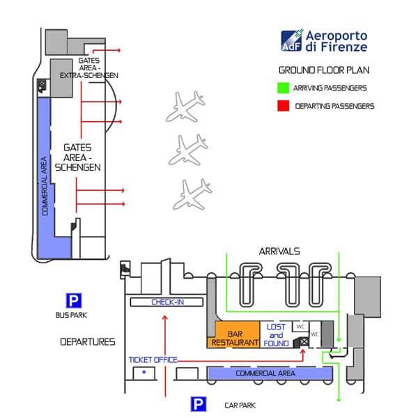схема аэропорт флоренции