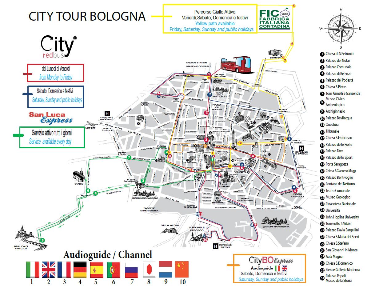 city red bus болонья карта