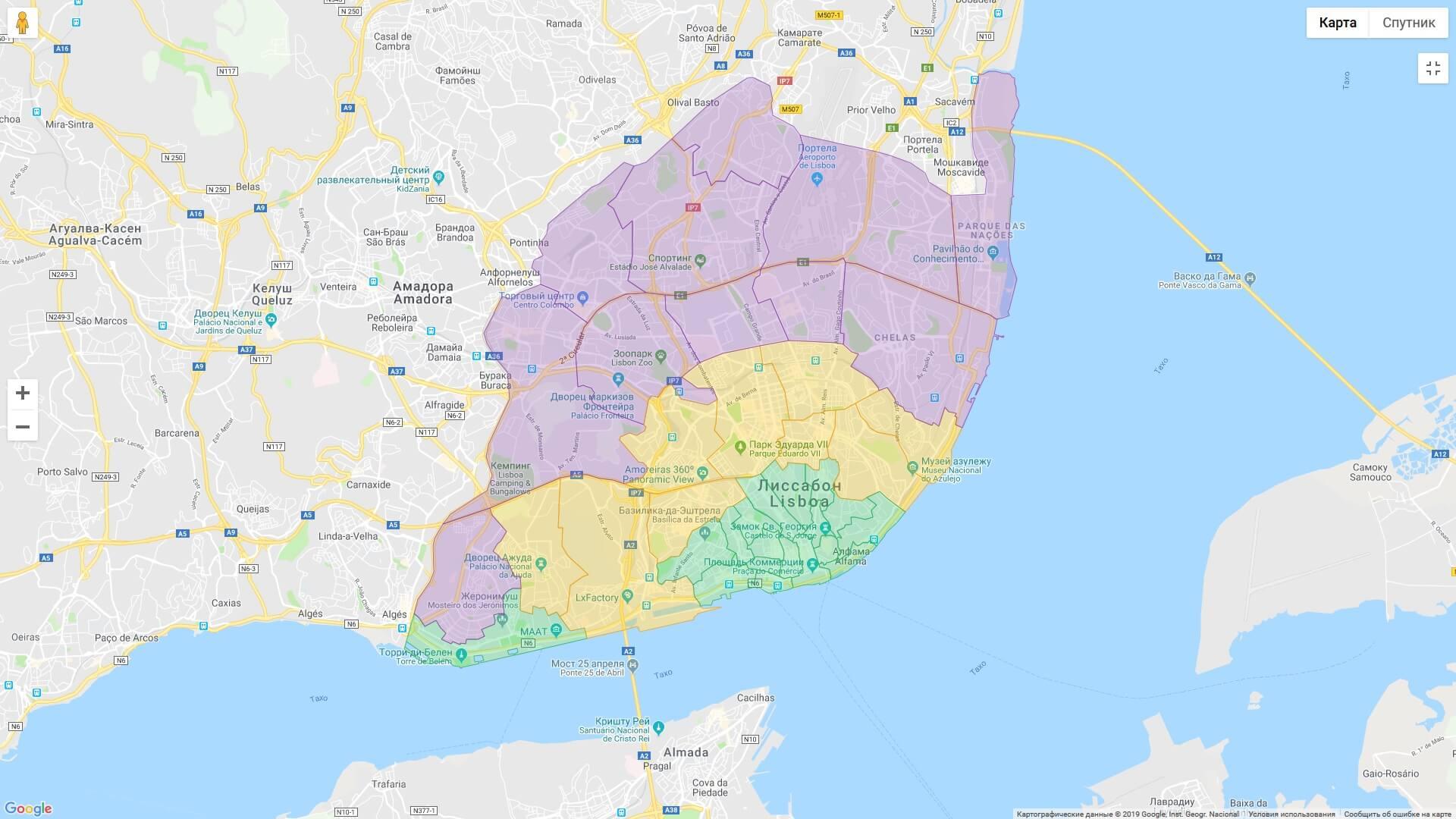районы лиссабона где остановиться