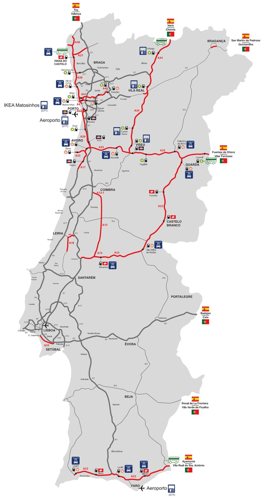 карта дорог португалии с электронной оплатой