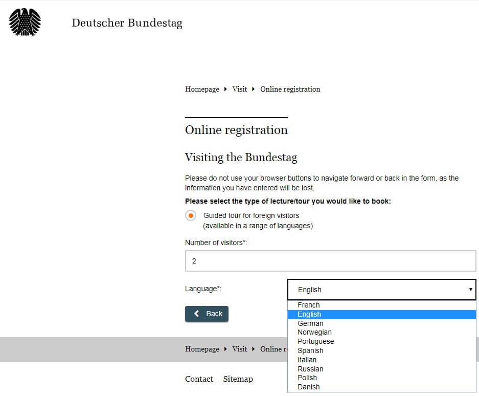 рейхстаг экскурсия регистрация